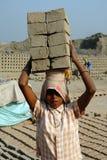 Lavoro della donna in India Fotografie Stock Libere da Diritti