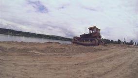 Lavoro della macchina del bulldozer archivi video