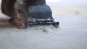 Lavoro della macinazione del carpentiere video d archivio