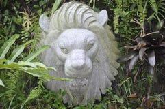 Lavoro della pietra del fronte del leone Fotografie Stock Libere da Diritti