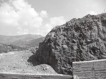 Lavoro dello scavo accanto al cantiere Fotografia Stock