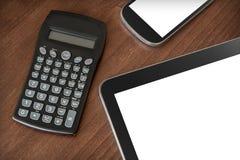 Lavoro di affari con la compressa, Smartphone & il calcolatore #2 Immagine Stock Libera da Diritti
