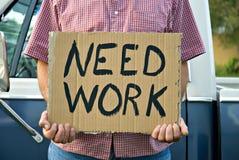 lavoro di bisogno Immagini Stock