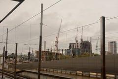 Lavoro di costruzione che aggiunge all'orizzonte di Londra Fotografia Stock