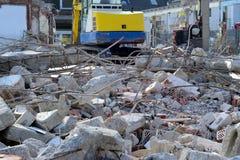 Lavoro di demolizione Immagini Stock