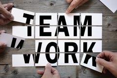 Lavoro di gruppo di ortografia di lavoro di squadra di affari fotografia stock