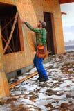 Lavoro di inverno Fotografie Stock