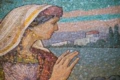 Lavoro di mosaico del salvatore sul tempio del sangue Fotografia Stock