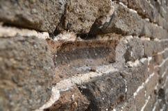 Lavoro di muratura magico della grande muraglia fotografia stock