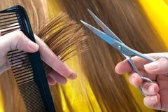 Lavoro di parrucchiere Fotografie Stock Libere da Diritti