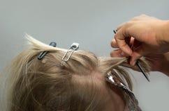 Lavoro di parrucchiere Fotografie Stock