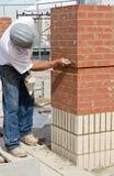 lavoro di particolare di lavoro di muratura Fotografia Stock