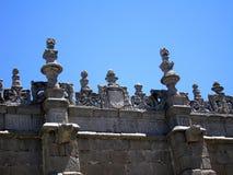 Lavoro di pietra su una parete antica Immagini Stock Libere da Diritti