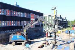 Lavoro di Pilling per nuova costruzione immagine stock