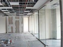 Lavoro di rifinitura della costruzione Fotografia Stock