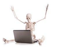 Lavoro di scheletro Fotografie Stock