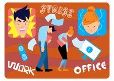 Lavoro di sforzo dell'ufficio Immagini Stock Libere da Diritti
