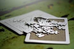 Lavoro di squadra bianco di lavoro di squadra e di armonia del puzzle ed armonia Immagine Stock Libera da Diritti