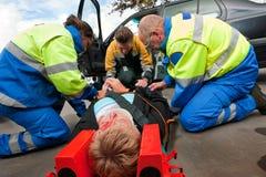 Lavoro di squadra del pronto soccorso Fotografie Stock Libere da Diritti