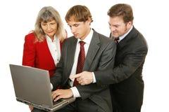 Lavoro di squadra di affari isolato Immagini Stock