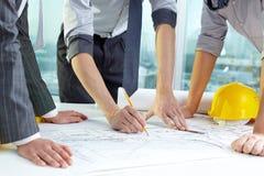 Lavoro di squadra di Architect?s Fotografia Stock