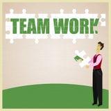 Lavoro di squadra di puzzle Immagine Stock