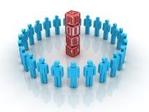 Lavoro di squadra di rischio Immagine Stock Libera da Diritti