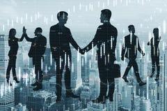Lavoro di squadra e concetto finanziario di crescita illustrazione vettoriale