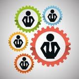 Lavoro di squadra e progettazione degli ingranaggi Immagine Stock Libera da Diritti