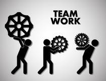Lavoro di squadra e progettazione degli ingranaggi Fotografie Stock Libere da Diritti