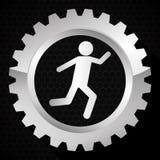 Lavoro di squadra e progettazione degli ingranaggi Immagine Stock
