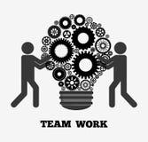 Lavoro di squadra e progettazione degli ingranaggi Immagini Stock Libere da Diritti