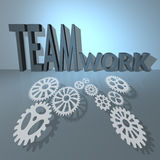 Lavoro di squadra e successo di affari illustrazione di stock