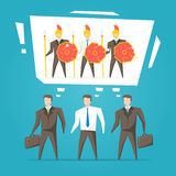 Lavoro di squadra, illustrazione di vettore del gruppo di affari Fotografia Stock