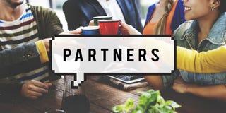 Lavoro di squadra Team Concept di collaborazione di Alliance dei partner Immagini Stock