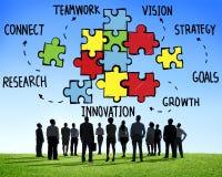 Lavoro di squadra Team Connection Strategy Partnership Support Fotografia Stock Libera da Diritti
