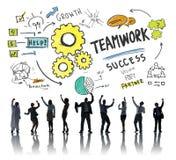 Lavoro di squadra Team Together Collaboration Business Success Celebratio Fotografia Stock Libera da Diritti