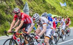 Lavoro di squadra - Tour de France 2014 Immagini Stock Libere da Diritti
