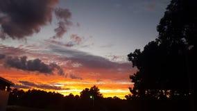 Lavoro di tramonto Immagini Stock Libere da Diritti