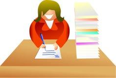 Lavoro di ufficio illustrazione di stock