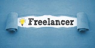 Lavoro di ufficio con le free lance fotografia stock libera da diritti