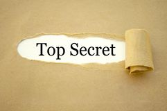 Lavoro di ufficio con top-secret fotografia stock libera da diritti