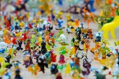 Lavoro di vetro delle figure minuscole degli animali Immagini Stock Libere da Diritti