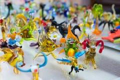 Lavoro di vetro delle figure minuscole degli animali Immagine Stock