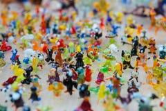 Lavoro di vetro delle figure minuscole degli animali Immagini Stock