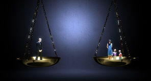 Lavoro e famiglia d'equilibratura Immagine Stock Libera da Diritti