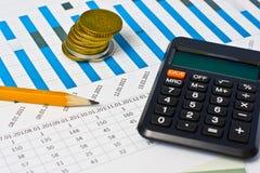 Lavoro finanziario Fotografia Stock