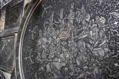 Lavoro fine e bello su un piatto al mercato a Ispahan fotografia stock libera da diritti
