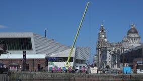 Lavoro 4K della costruzione e di Liverpool archivi video