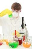 Lavoro in laboratorio Immagine Stock